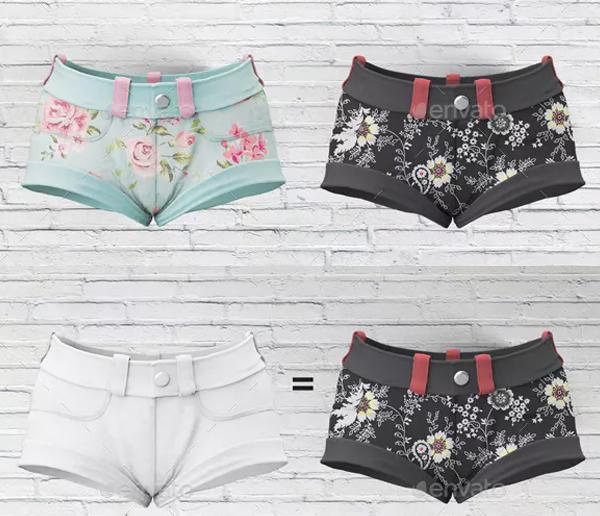 Woman Clothing Shorts Mockup