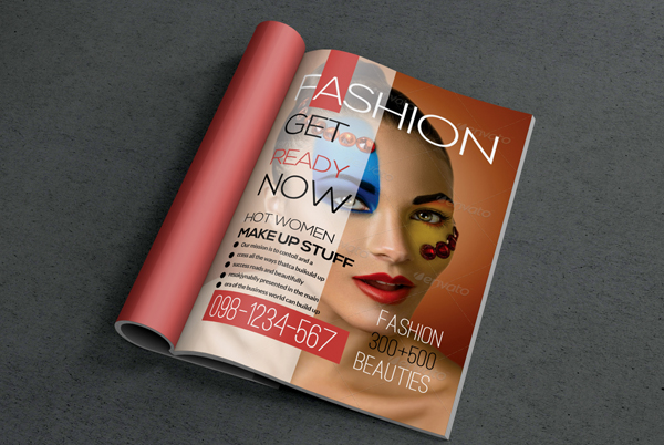 Women Fashion Beauties Magazine Cover Template