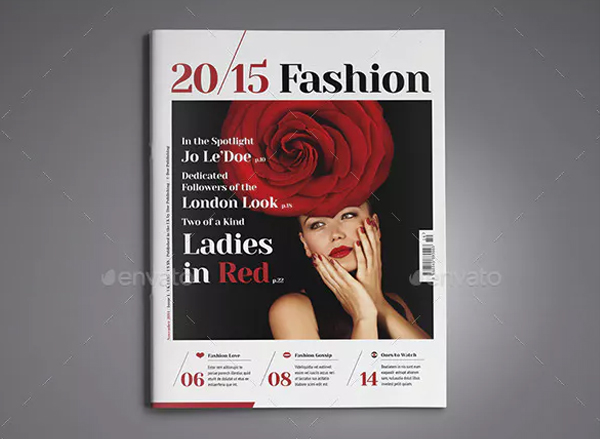 Women Fashion Magazine Cover InDesign Template