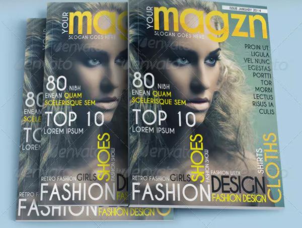 Women Fashion Magazine Cover Templates