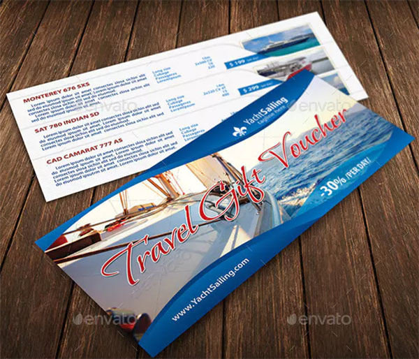 Yacht Sailing Travel Club Gift Voucher