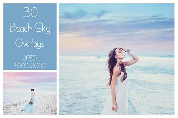 30 Beach Sky Photoshop Overlays