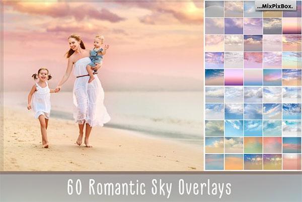 60 Romantic Sky Overlays