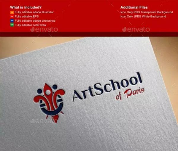 Art School Logo Template