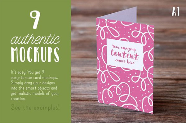 Authentic Greeting Card Mockups