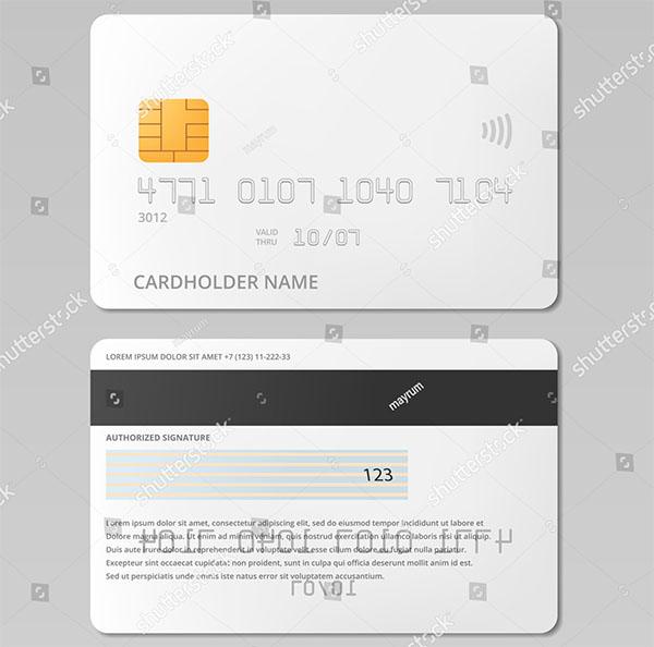 Bank Credit Card Front and Back Vector Mockup