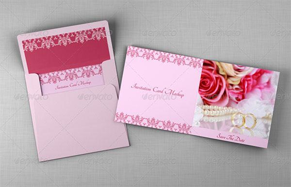 Bifold Invitation & Greeting Card Mockups