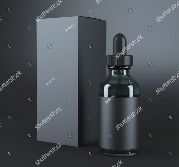 Black Vape Bottles Mockup