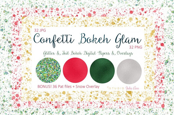 Bokeh Glam Papers Overlays + Bonus