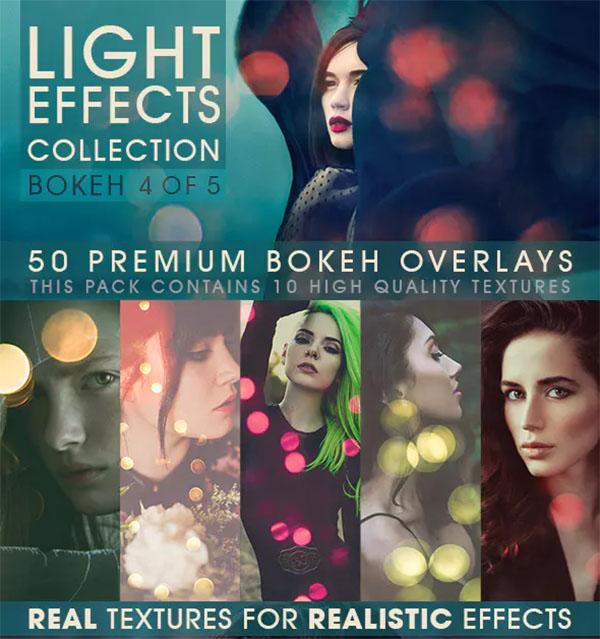 Bokeh Overlays Photoshop ATN Template