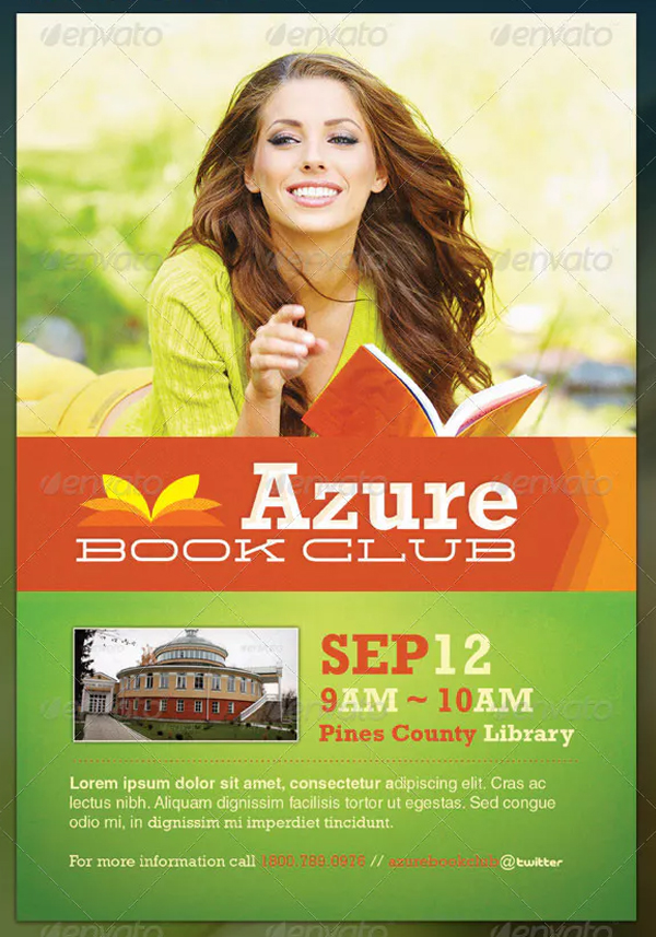 Book Club Promotion Flyer Template