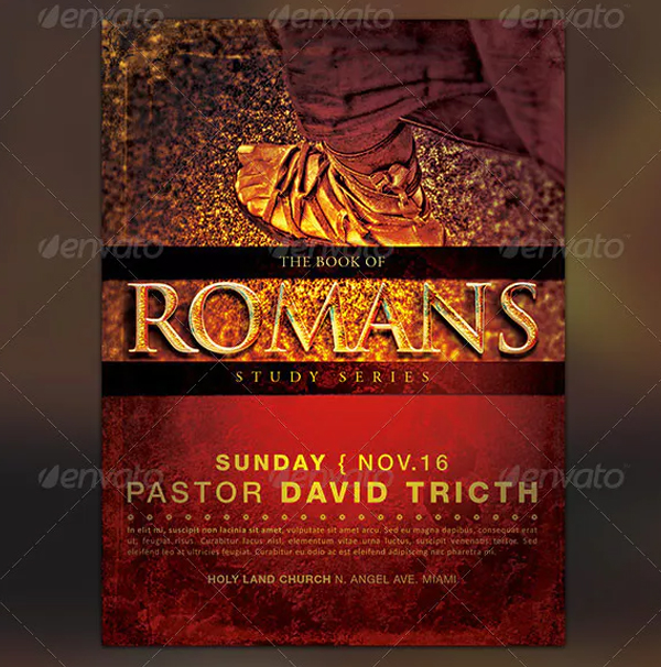 Book of Romans Church Promotion Flyer Template