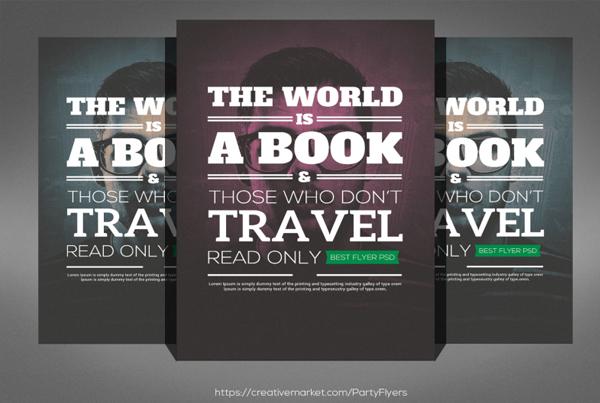 Book of World Church Flyer Template