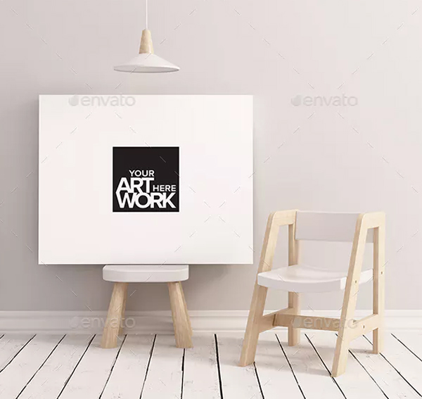 Canvas Poster Mockup