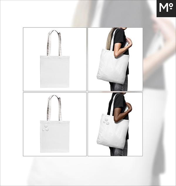 Canvas Shopper Bag Mock-up