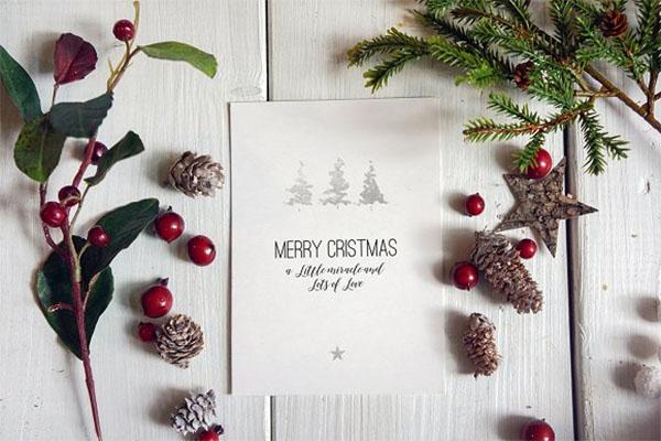 Christmas Greeting Card Mockups