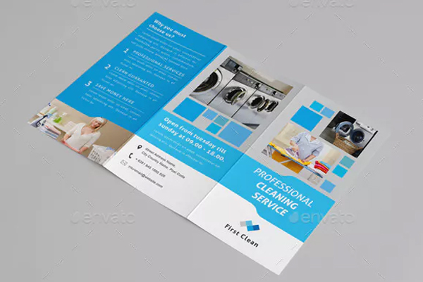 Cleaning Service and Laundry Trifold Brochure