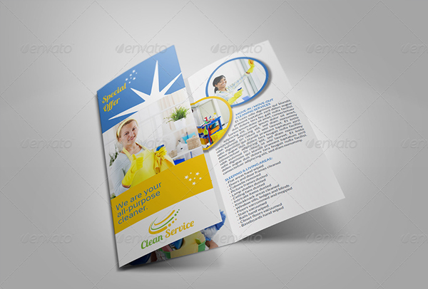 Cleaning Services Trifold Brochure