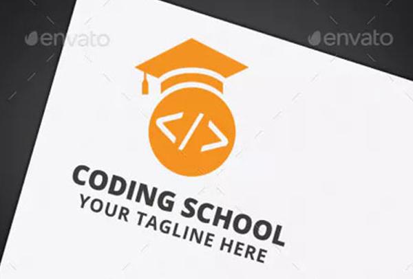 Coding School Logo Template