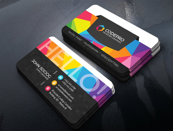 Colorful Studio Business Card