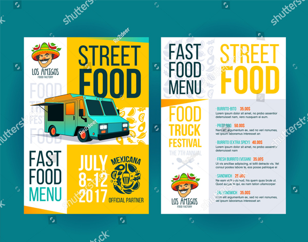Creative Fast Food Truck Flyer Template