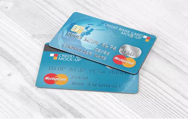 Credit Bank Card Mock-Up