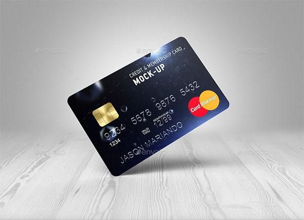 Credit Bank PSD Card Mock-Up