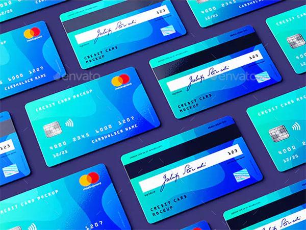 Credit Card and Membership PSD Card MockUp