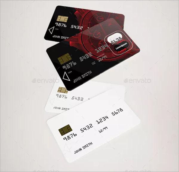 Credit PSD Card Mockup