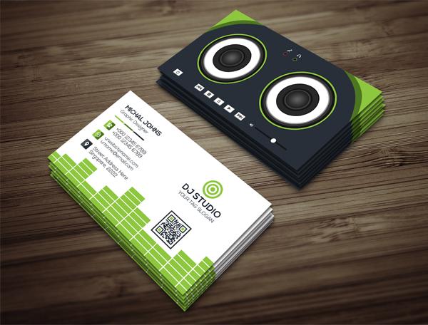 DJ Studio Business Card Template