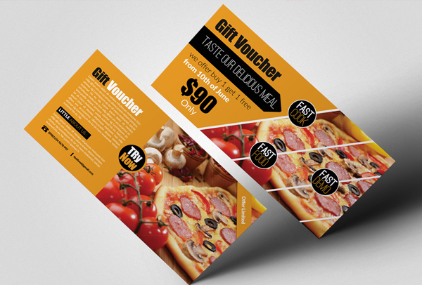 Delicious Fast Food Gift Voucher Template