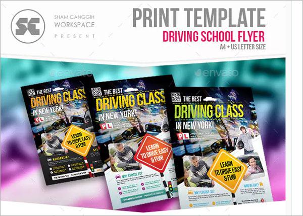 Driving Class Flyer Template