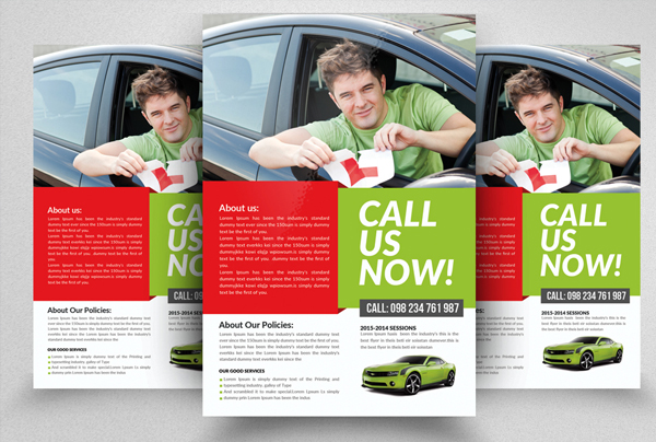 Driving Learning School Promotion Book Flyer Template