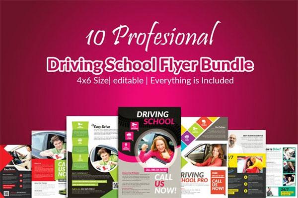 Driving School Flyer Bundle