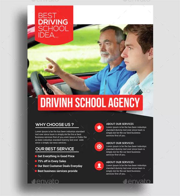 Driving School Flyer Psd Template