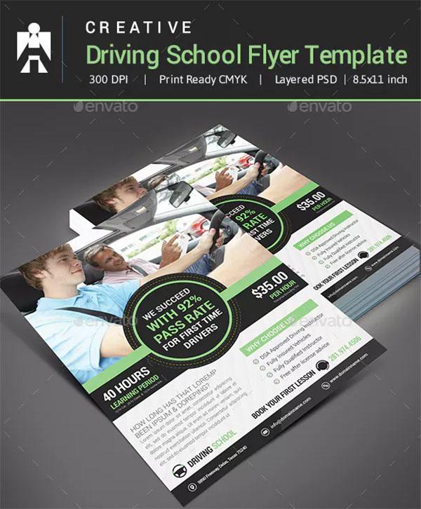 Driving School Flyer Templates