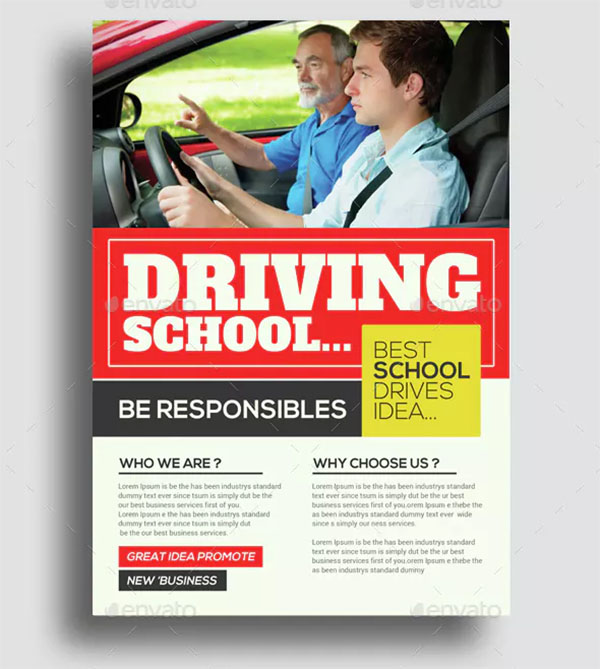 Driving School Flyers Bundle Template