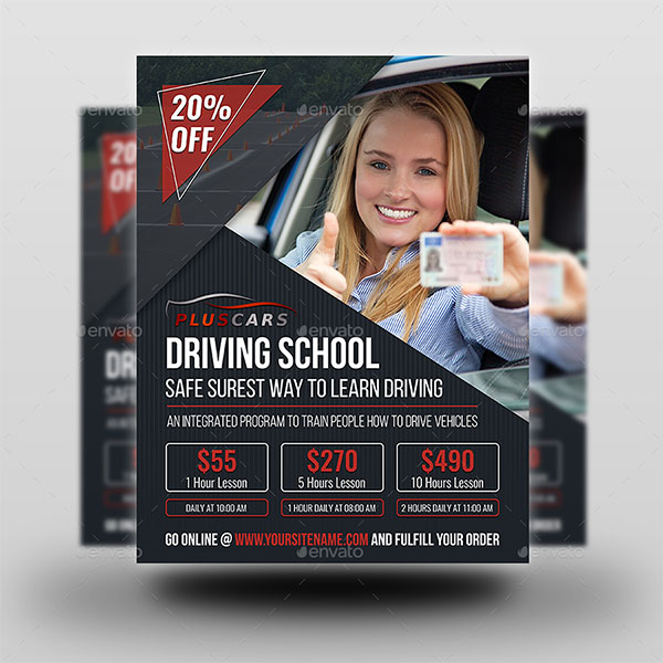 Driving School Leaflet Template