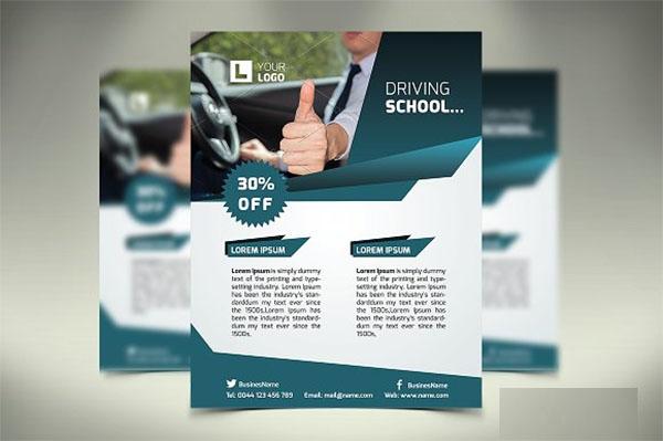 Driving School PSD Flyer