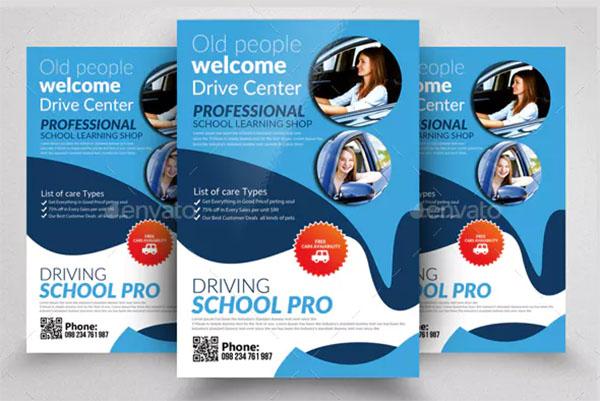 Driving School Pro Flyer Template