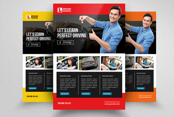 Driving School Promotion Book Flyer Template