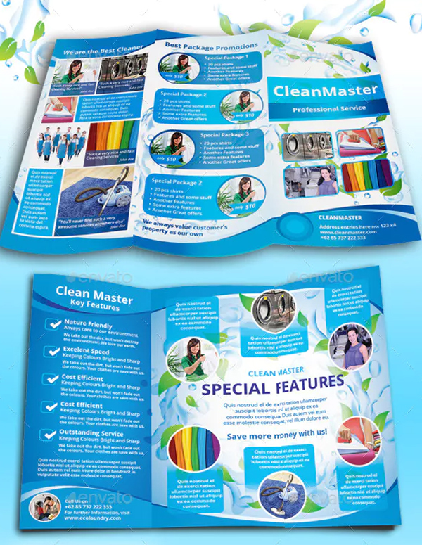 Eco Cleaning Service Tri fold Brochure