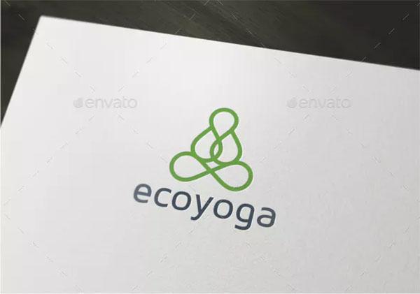 Eco Yoga Logo Template
