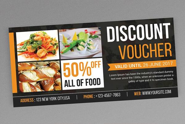 Editable Food Discount Voucher