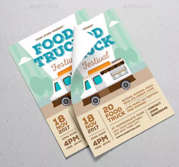 Editable Food Truck Festival Flyer