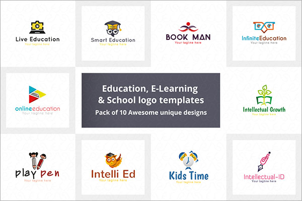Education E-Learning & School Logo
