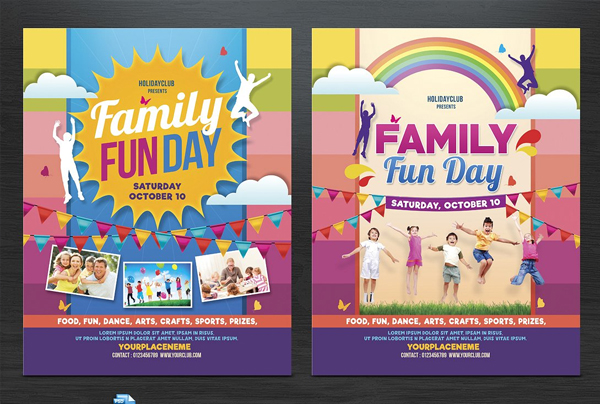Family Fun Day Flyers