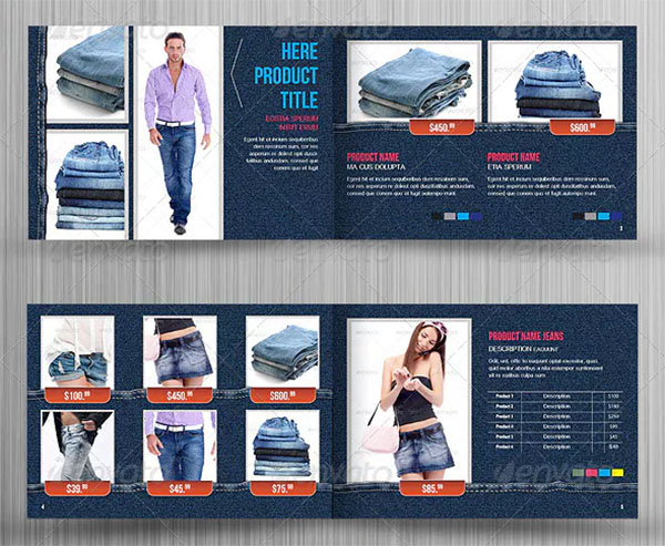 Fashion Clothing Product Catalog Template