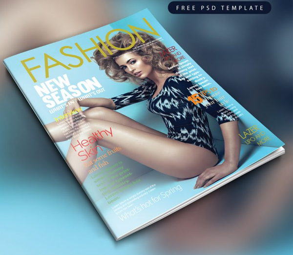 Fashion Magazine Cover Free PSD Template