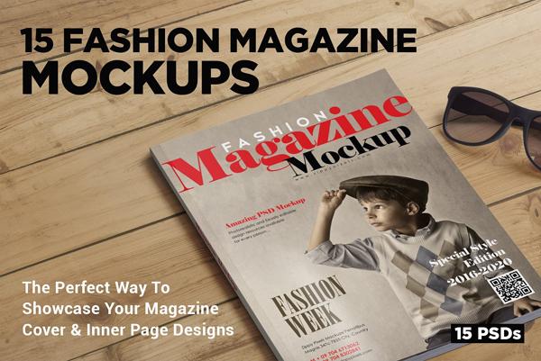 Fashion Magazine Mockups